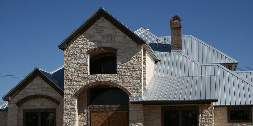 A home with metal roofing in Plano, TX